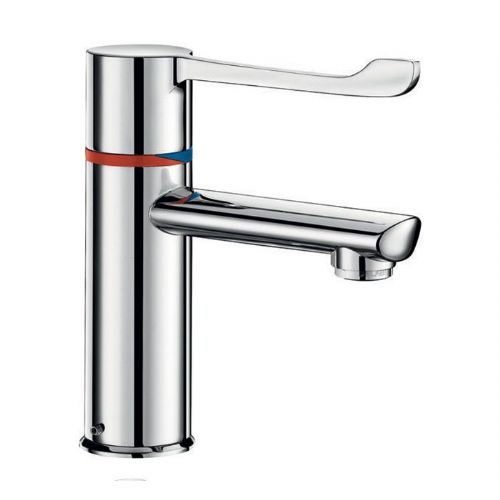 Delabie H960015 SECURITHERM Sequential Thermostatic Deck-Mounted 146mm Lever Basin Mixer - Flexi PEX